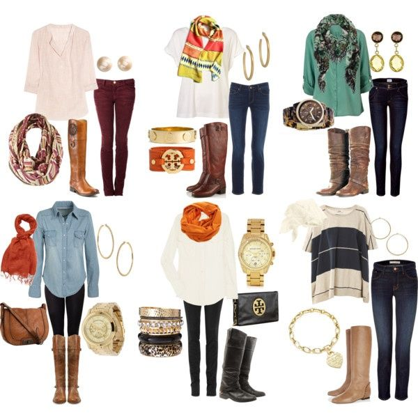 Fall Outfits... Boots and scarves! Need I say more?