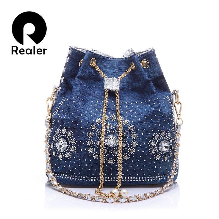 джинсовая сумка со стразами