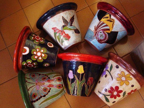 Como pintar vasos de cerâmica 05                                                                                                                                                                                 Mais
