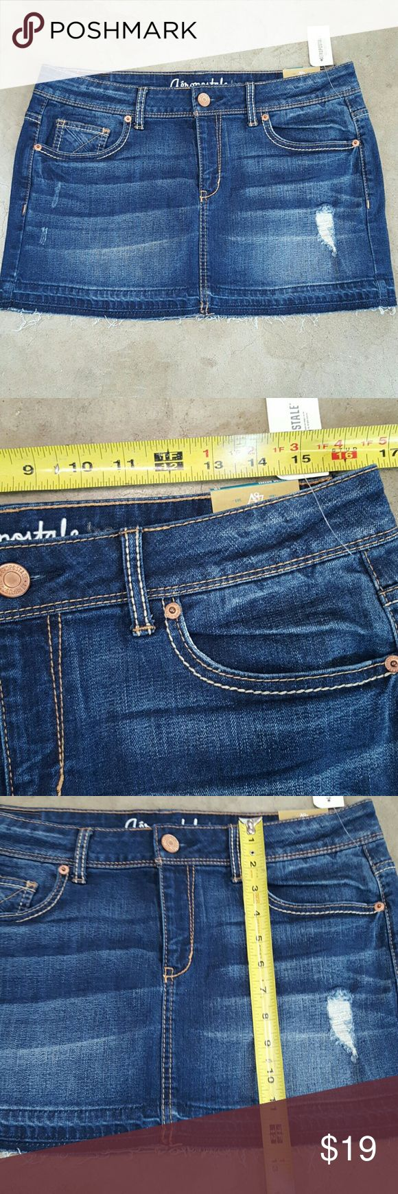 Aeropostale jean skirt size 10 NWOT 99% cotton 1% spandex Aeropostale Skirts Mini