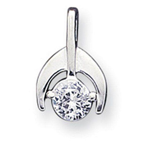 Sterling Silver Cz Pendant & Chain Shop4Silver. $23.00