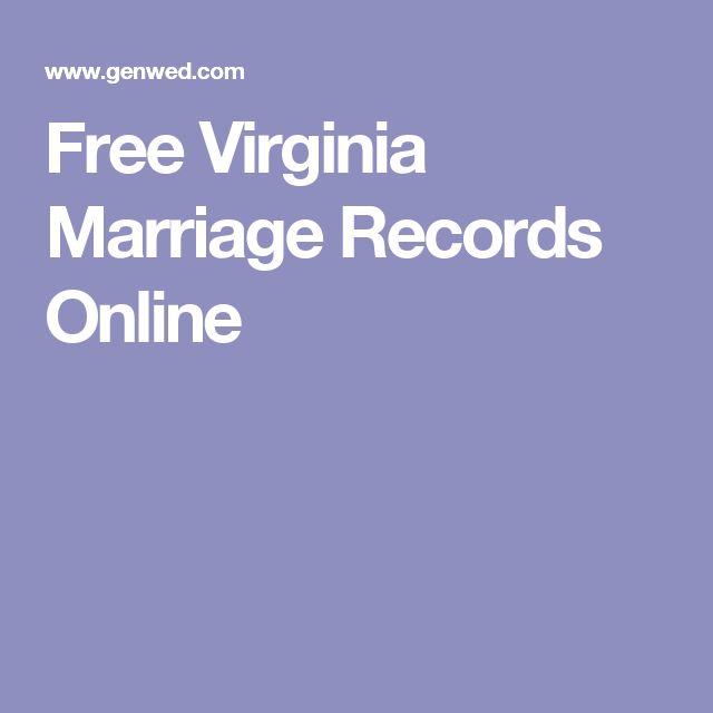 Free Virginia Marriage Records Online