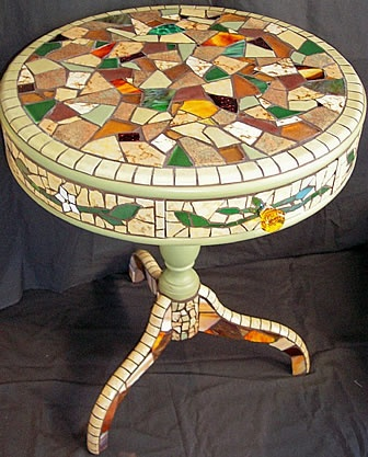 Lovely Table...Passiflora Mosaics - Creative mosaics for home and garden