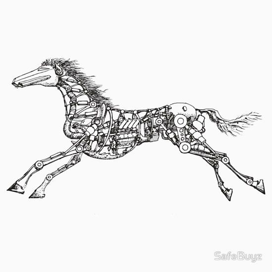 Galloping Steam Punk Horse