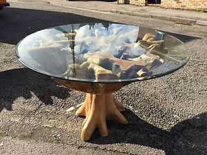 CIRCULAR UNIQUE RECYCLED TEAK WOOD TREE ROOT DINING TABLE B31 Saturday Kitchen