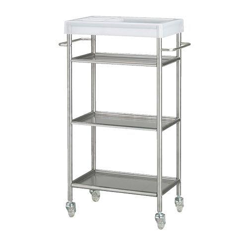 GRUNDTAL Carrello  - IKEA se si riesce a cambiare il ripiano credo sia la cosa giusta come profondità per la cucina del seminterrato