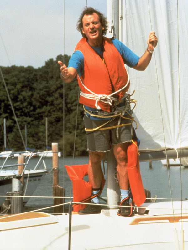 I AM SAILING!  Bill Murray in What About Bob