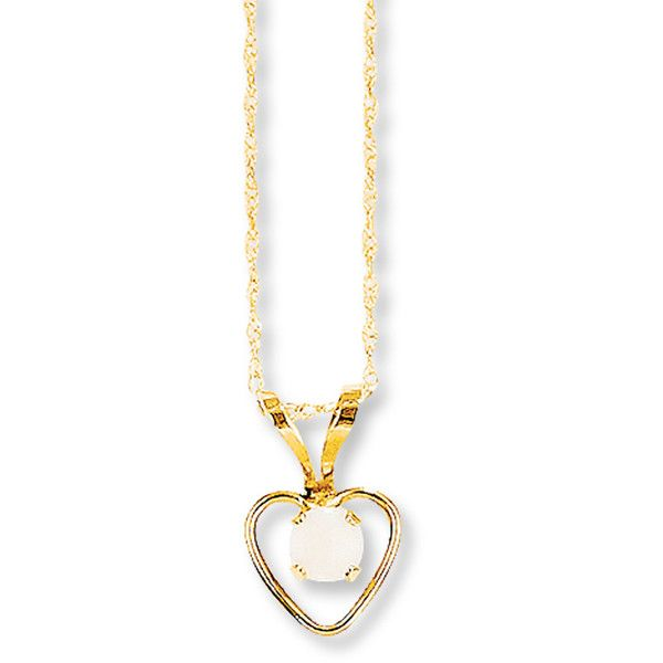 Opal Heart Necklace 14K Yellow Gold (£59) ❤ liked on Polyvore featuring jewelry, necklaces, 14 karat gold necklace, gold heart pendant, gold rope chain necklace, gold pendant necklace and gold pendant