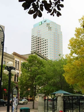 Exchange District, Winnipeg, Manitoba Well used for musical and Cultural events: Jazz Fest Fringe Fest etc.