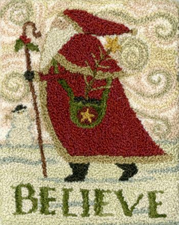 Pattern: Believe Punch Needle by Teresa by CottageThreadsShoppe