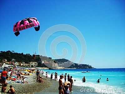 Click on one of the most beautiful beaches in Nice Cote d'Azur France