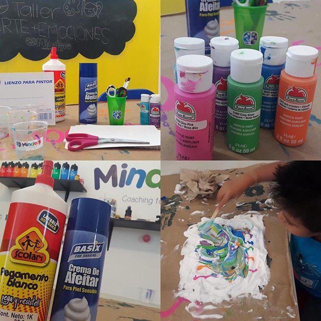 Una buena idea para intentar con los niños este domingo! 🎨🖌🖍 crea tus propias obras de arte con crema de afeitar, pegamento y pinturas acrílicas! #minderscoachingforkids #minders #psicologiainfantil #tip #domingo #sundayfunday
