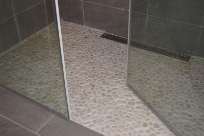 Rullestein til dusjen