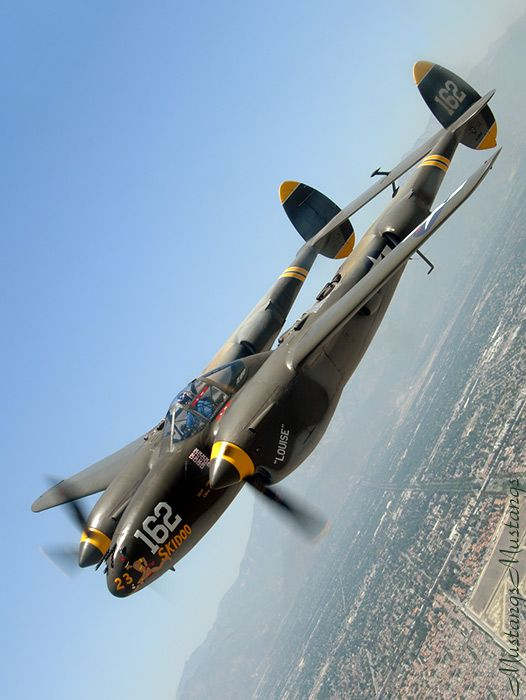 p38 lighting the axis called it the fork tail devil the best looking plane of