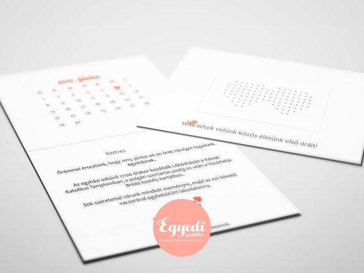 Egyszerű, de ötletes esküvői meghívó   Simple, but creative wedding invitation card
