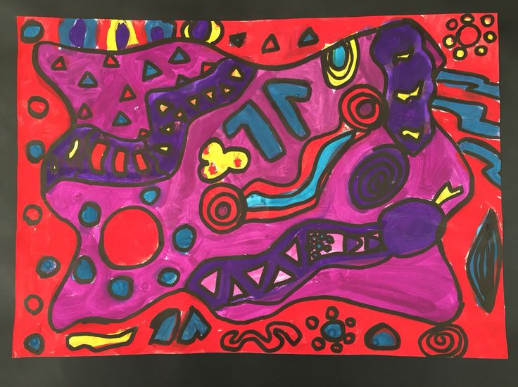 S for snake- Grade 4. Taking inspiration from Symbolism in Australian Indigenous Art.