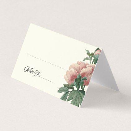 Blush Peony Place Card - wedding cyo special idea weddings