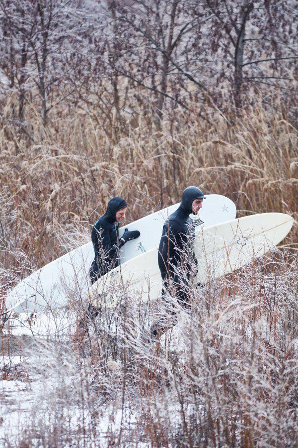 Winter surfing is craziness! Shot by Sandy Nicholson