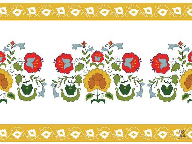 Татарский национальный орнамент. | Madaniyat.ru