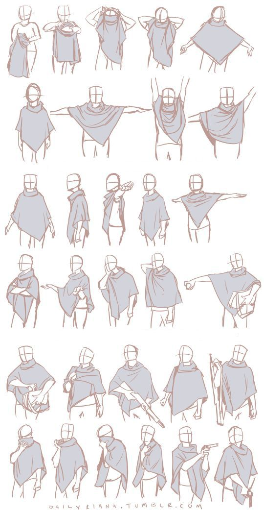 This may simply seem like some practice poses with a piece of clothing, but pay attention to how dynamic the cloth seems and how