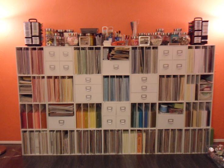 #Papercraft #Crafting supply #organization. paper storage