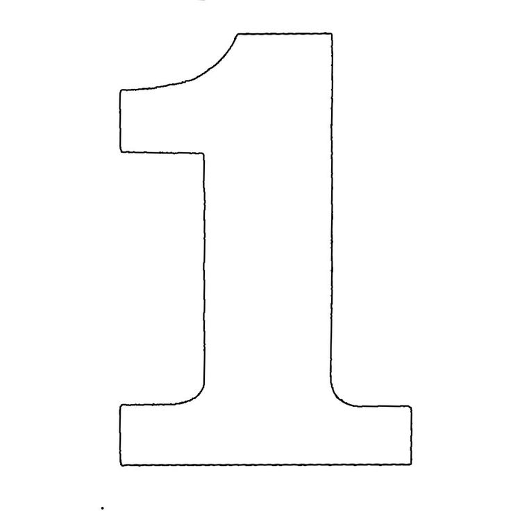 free numbers templates - number one stencil to cut out numbers plasma image 1