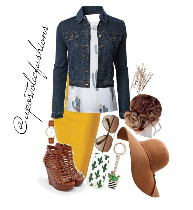 """""""Apostolic Fashions #1727"""" by apostolicfashions on Polyvore featuring WithChic, JustFab, LE3NO, Kate Spade, Marc by Marc Jacobs and Sonix"""