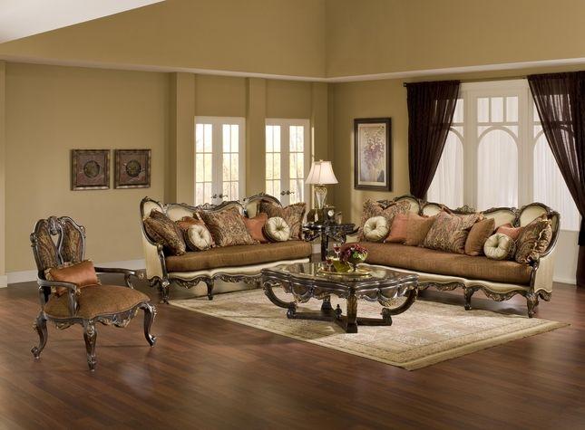 Benettiu0027s Italia Abrianna Antique Style Formal Sofa Set