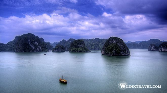 Halong Bay in winter time