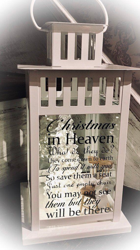 Christmas In Heaven Lantern Diy.Christmas In Heaven Lantern Loved Ones In Heaven Lantern