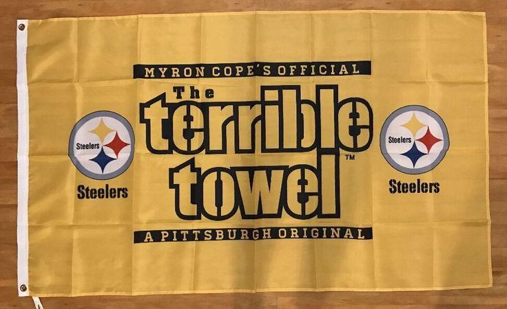 NFL Pittsburgh Steelers Football Terrible Towel 3x5 Flag Banner FREE SHIPPING #PittsburghSteelers