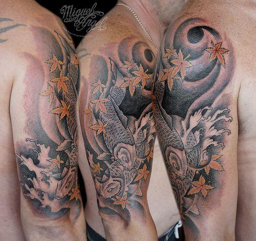 Koi carp cover-up tattoo | Tattoos | Pinterest | Koi Carp ...