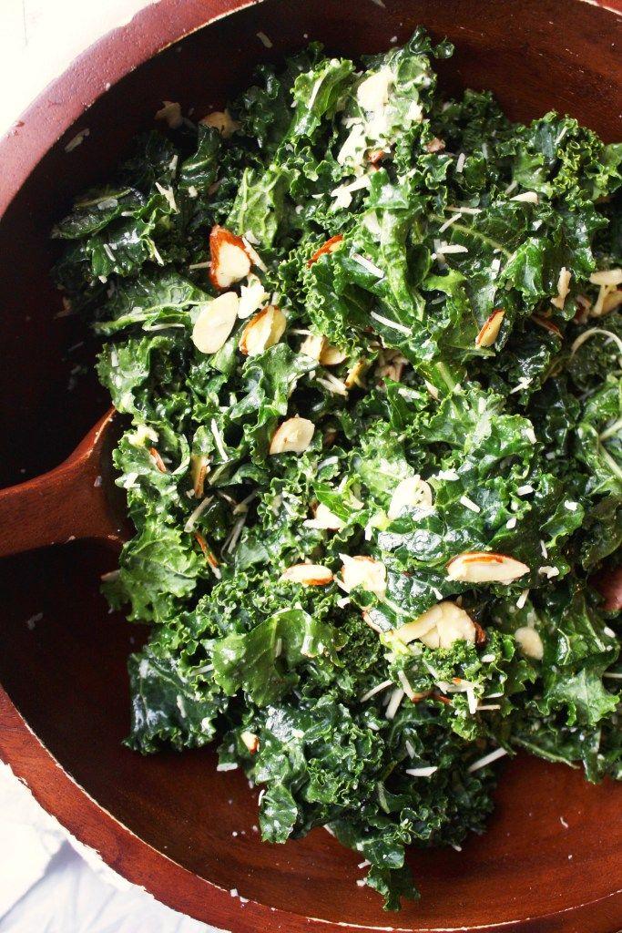 Simple Kale Salad with Lemon Vinaigrette