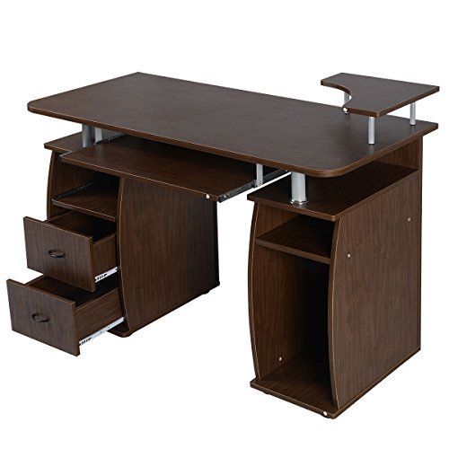 Walnut Computer Laptop Desk Home Office Workstation Pc Table Durable -  http://www.wahmmo.com/walnut-computer-laptop-desk-home-office-workstation-pc-table-durable/ -  - WAHMMO