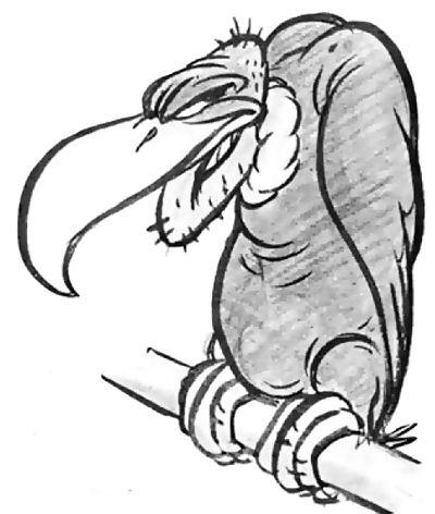 cartoon vulture