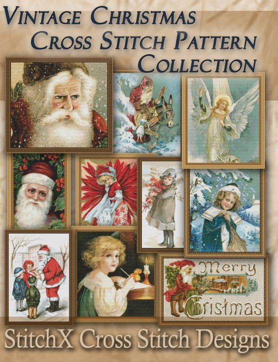 Vintage Cross Stitch Patterns PDF Instant Download Collection of Holiday Traditions