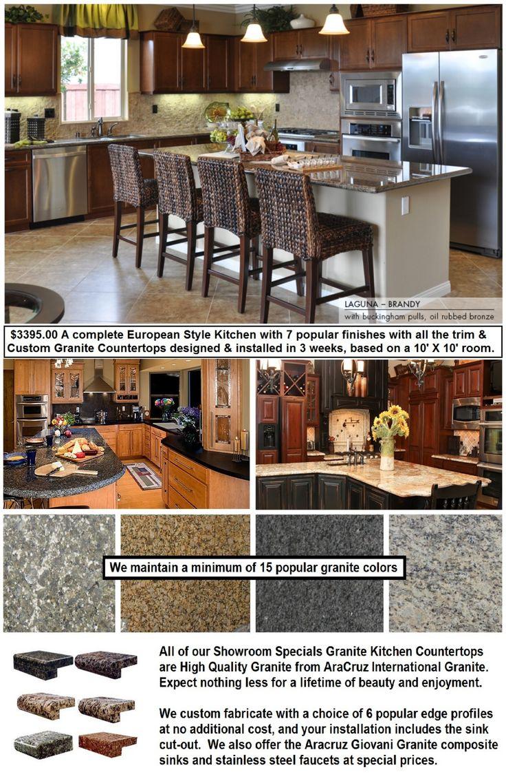 European kitchen cabinets for less - Phoenix 3395 European Kitchen Cabinets Granite Countertops Design