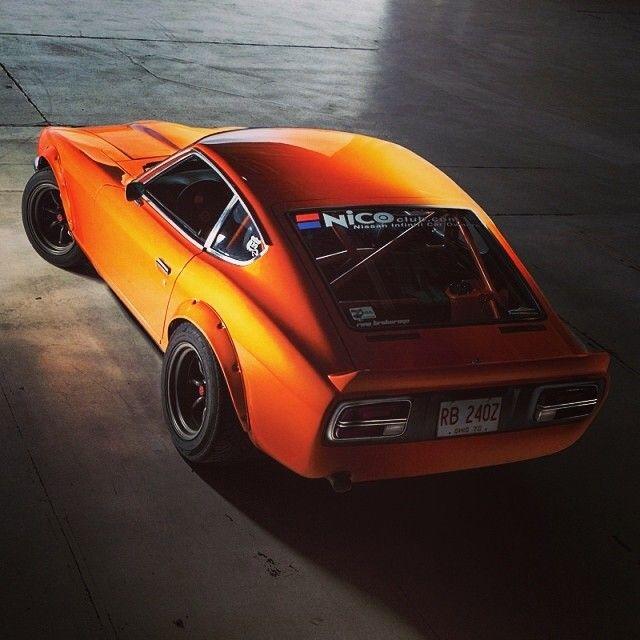beautiful orange Datsun 240Z race car  Drive My Car  Pinterest