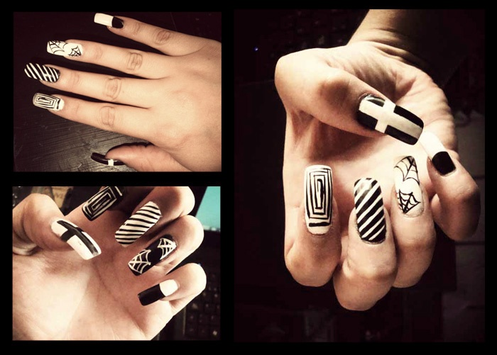 Nails Designs Tumblr Black And White 2
