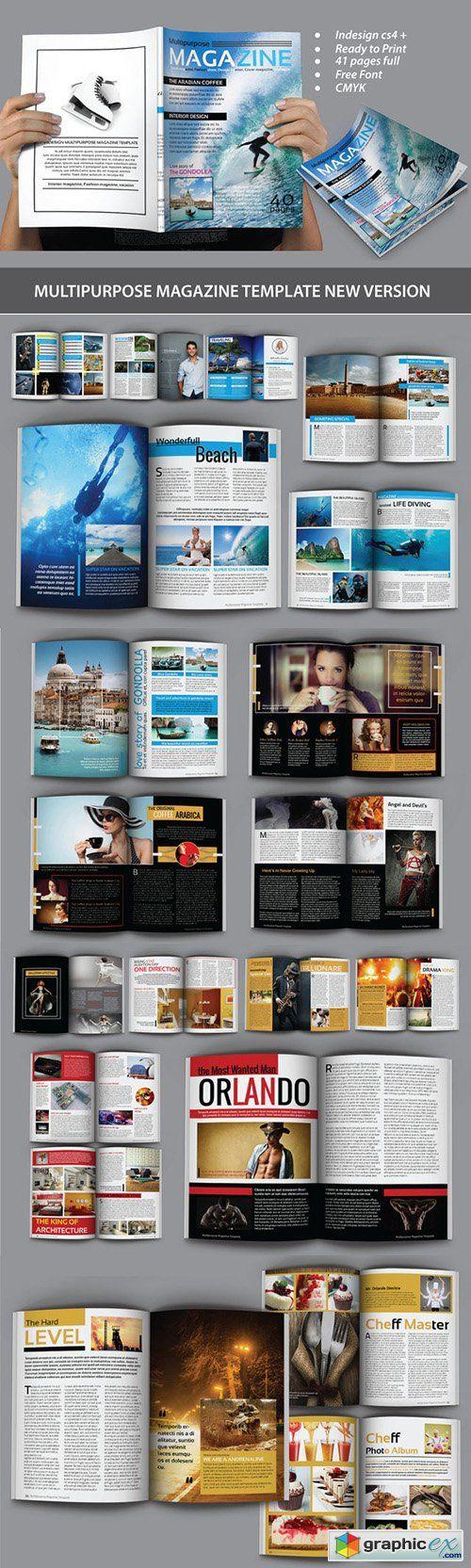 144 best magazine grids templates images on pinterest multipurpose magazine template 268563 alramifo Gallery
