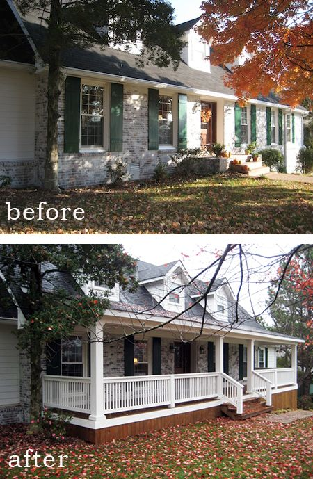back porch before and after | Before and After: The Difference a Front Porch Makes