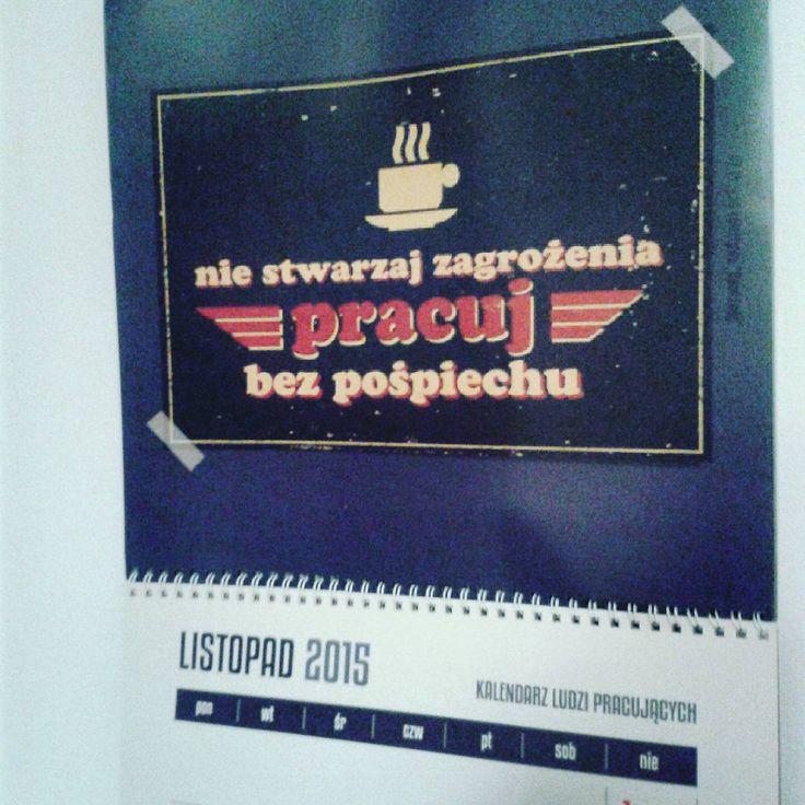 """""""11. Pracuj bez pośpiechu #kalendarz  #kalendarzludzipracujacych #spodlady #kalendarz"""""""
