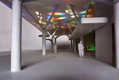 Prism - Solar Spectrum light art , Children's Hospital LA, by Peter Erskine