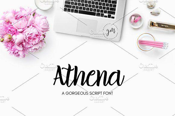 Athena | Gorgeous Script Font by Graceful Market on @creativemarket