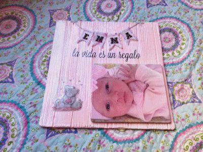 lienzo personalizado con fotos, collage en madera , iniciales de madera,