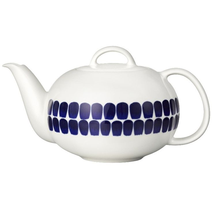 Arabia Finland 24H Tuokio Cobalt Blue Teapot. This simple and fresh range was first introduced to the Arabia catalogue in 1996.  #Arabia Finland