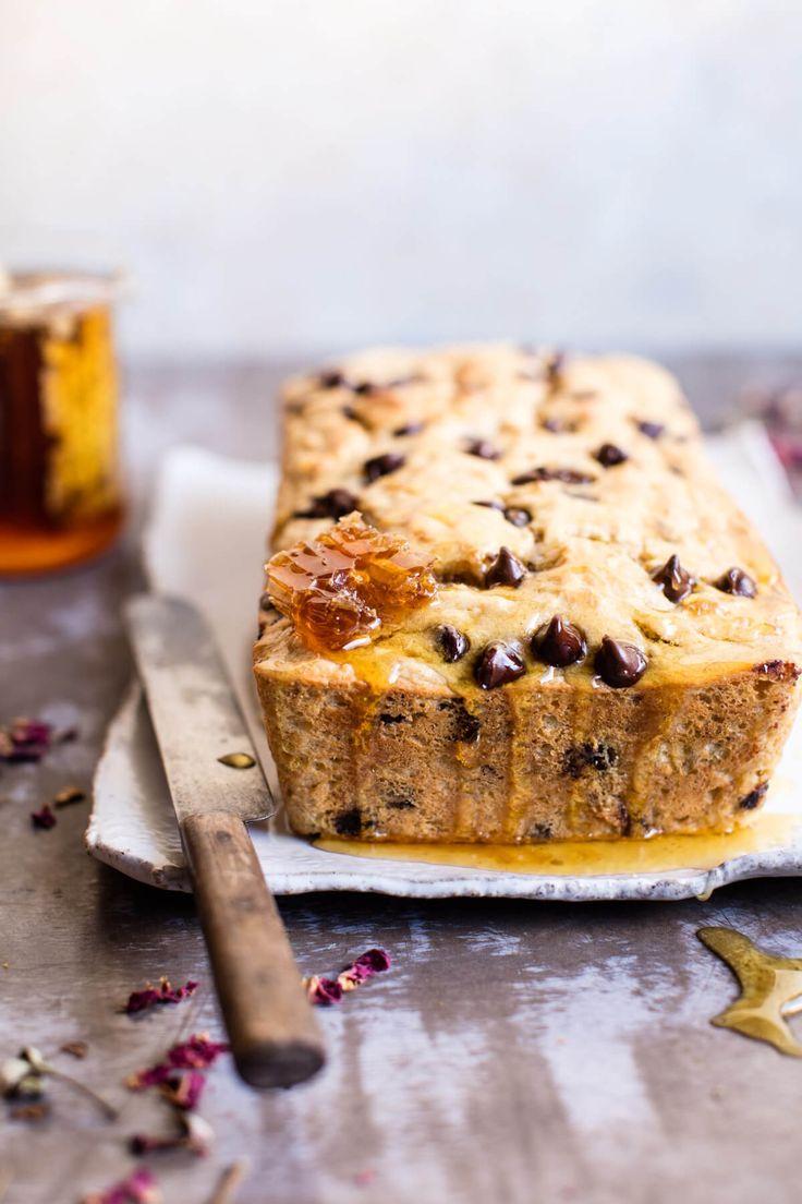 Banana bread alla ricotta e gocce di cioccolato, senza olio o burro! 🍌 Half baked Harvest