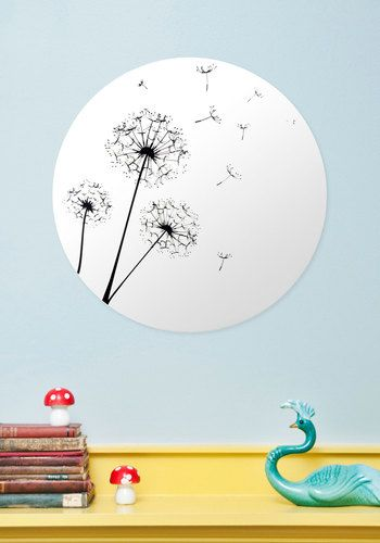 Gust Be Dreaming Mirror, #ModCloth A mirror with the dandelions printed onto the top! So cute!