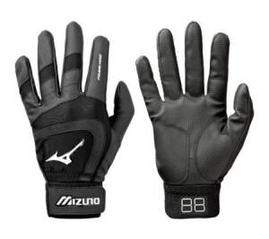 Mizuno Franchise Batting Gloves Adult Pair Delivery Australia wide Embossed Mizuno Digi-Grip palm for enhanced grip.  Mizuno`s 3-D logo application.  Mizuno Flexmesh Gussets for freedom of joint movement.  Palm Pad for added durability  Available in Black, Black/White & Royal/White