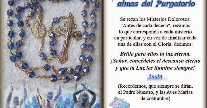 MARTES Rosario  por las almas del Purgatorio http://santorosariopc.blogspot.com/2015/11/rosario-por-las-almas-del-purgatorio.html